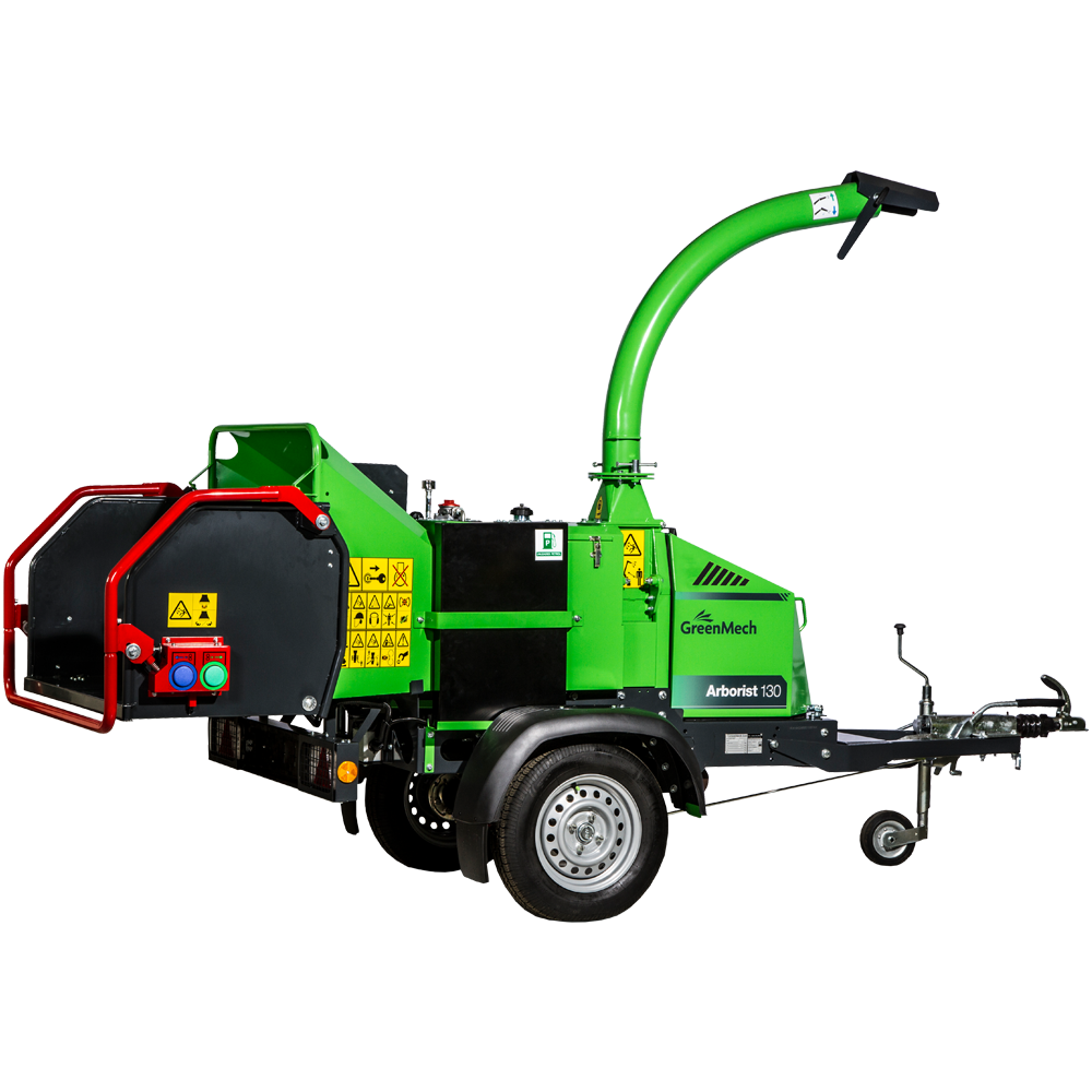 GreenMech Arborist 130 machine cut out on white background
