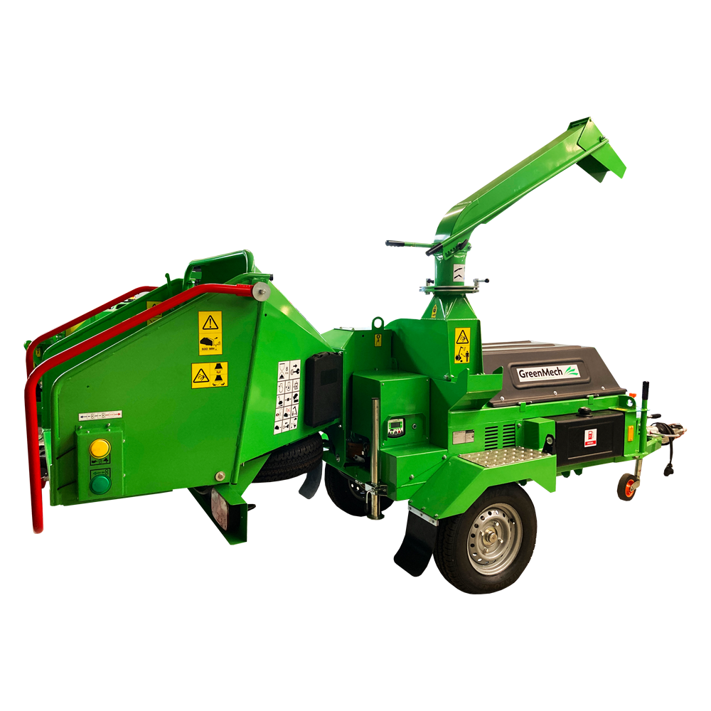 GreenMech ChipMaster 220 woodchipper cut out image on white background