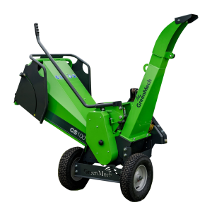 GreenMech CS-100 TMP woodchipper cut out on white background