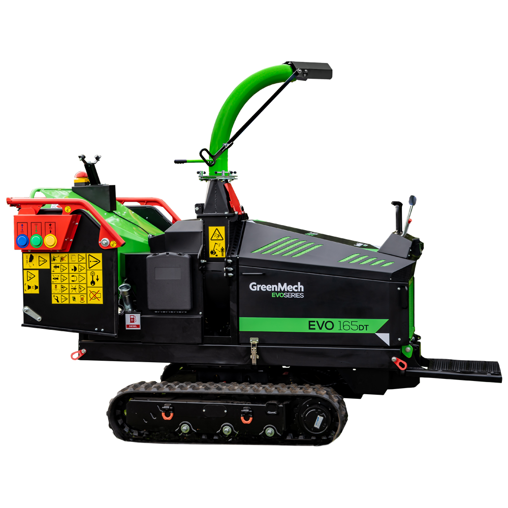 GreenMech EVO 165DT woodchipper cut out on white background