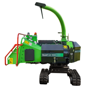 GreenMech QuadChip 160P woodchipper cut out on white background